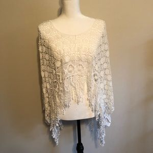 PONCHO STYLE LACE COVER